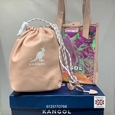 KANGOL 粉色雷射兩用子母側背包 6125170766