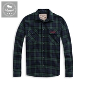 【Roush】 落肩設計法蘭絨格紋工裝襯衫 -【915582】