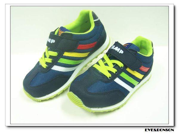 『雙惠鞋櫃』★JUMP 將門★基本款黏帶式橡膠氣墊底童運動鞋★ (300) 深藍 免郵資