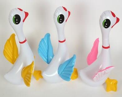[協貿國際]  兒童充氣玩具加厚PVC小天鵝 (3入)
