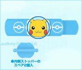 asdfkitty可愛家☆寶可夢 神奇寶貝 皮卡丘別針固定器-可掛名牌跟手帕-幼兒園好用-日本製