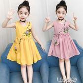 女童連衣裙夏裝2018新款韓版兒童超洋氣公主裙女孩夏季薄棉麻裙子-Ifashion