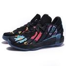 "ADIDAS 籃球鞋 DAME 7 ""DAY OF DEAD"" 黑 塗鴉 墨西哥 亡靈節 骷髏頭 男 (布魯克林) FZ3189"