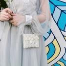 珍珠包包女日韓最新款純手工編織斜挎包百搭網紅diy編織 花樣年華