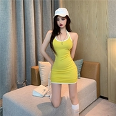 2020年夏季新款氣質網紅掛脖性感露背背心緊身包臀蹦迪洋裝女裝 【ifashion·全店免運】