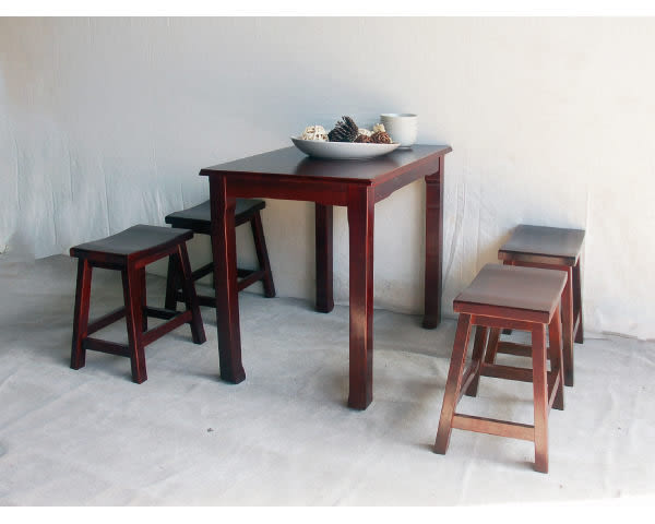 【YUDA】明式 實木原木 復古懷舊( 3*3尺 90*90公分) 餐桌/萬用桌 新竹以北免運