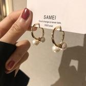 耳環時尚法式高級感氣質耳環小香風網紅設計感珍珠雙C耳釘 雙12