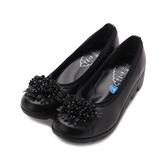 FIRST CONTACT 花叢鋸齒底楔形鞋 黑 39051 女鞋 鞋全家福