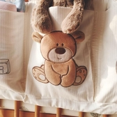 純棉嬰兒床收納袋掛袋床頭