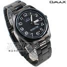 OMAX 時尚城市 數字圓錶 不鏽鋼錶帶...