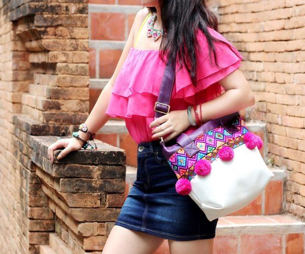 熱銷歐美 高級藤編包 民族風包包 手工刺繡包 仿皮PU 男女 電腦包 手提肩背包 旅行 斜背包