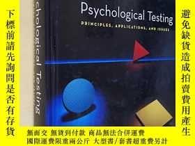 二手書博民逛書店英文原版罕見精裝 大開本 Psychological Testing: Principles, Applicati