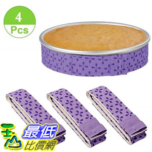 [8美國直購] 蛋糕盤條 4-Piece Bake Even Strip,Cake Pan Dampen Strips,Super Absorbent Thick Cotton