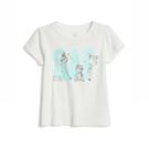 Gap女幼棉質舒適圓領短袖T恤539789-光感亮白