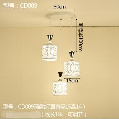 CD009圓盤款北歐餐廳吊燈創意個性餐廳燈飯廳燈現代鐵藝