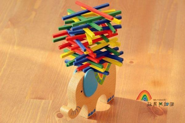 德國彩棒遊戲兒童動手益智遊戲爸媽親子玩具大象駱駝/l平衡木