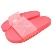adidas 拖鞋 Adilette Lilo W 紅 粉紅 亮色系 基本款 防水 舒適好穿 女鞋【PUMP306】 CQ2907