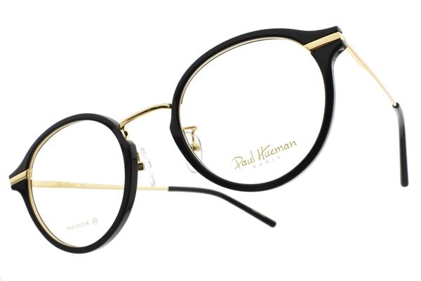 PAUL HUEMAN 光學眼鏡 PHF5131A 05 (黑-金) 韓流小貓眼款 眼鏡框 #金橘眼鏡