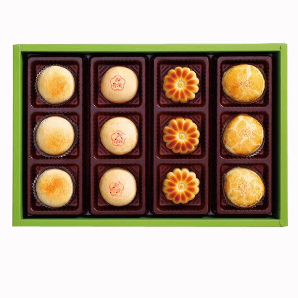 陳允寶泉 四喜禮盒( 御丹波、小月餅、桃山香柚、綠香綠豆) 四種口味一次滿足!
