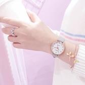 手錶女學生韓版簡約少女心文藝復古冷淡風森女系皮帶休閒大氣防水  伊衫風尚