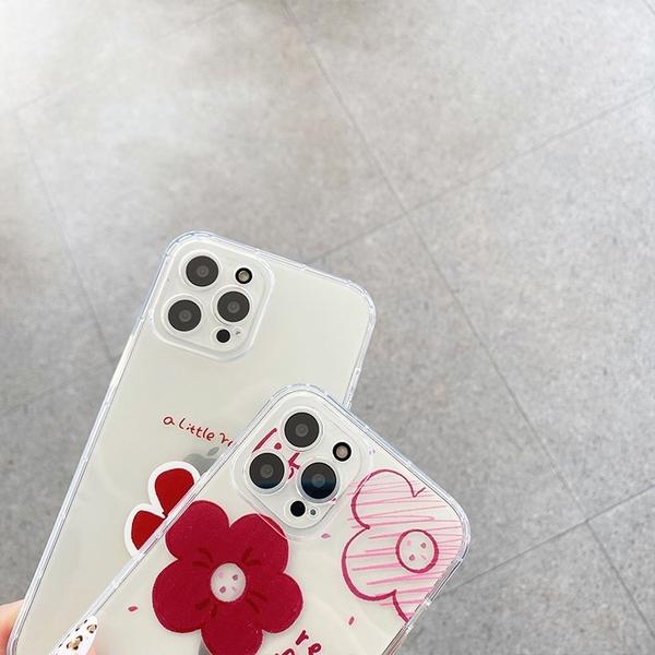 紅花朵朵 三星 A71 A51 4G A70 A50 A30s A21s 可愛少女 手機殼 軟殼 透明殼 輕薄 裸機 基本款 防摔 殼