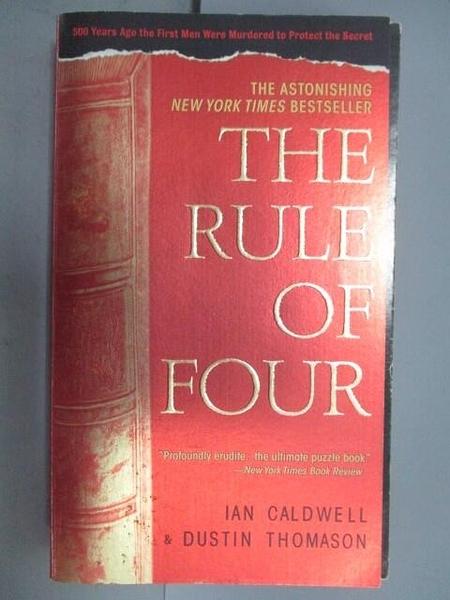 【書寶二手書T2/原文小說_CYA】The Rule of Four_Jeffrey L. Ward