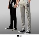 【男人幫】K0574*AMERCIA 英文印花 時尚休閒棉褲 - 灰色/黑色