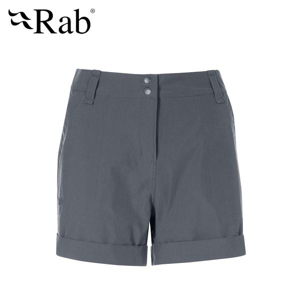 英國 RAB Helix Shorts wmns 防潑水彈性快乾短褲 女款 石墨灰 #QFU06