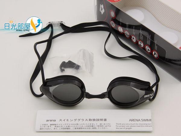 *日光部屋* arena (公司貨)/AGG-270-SMK 競泳/訓練/小鏡面泳鏡
