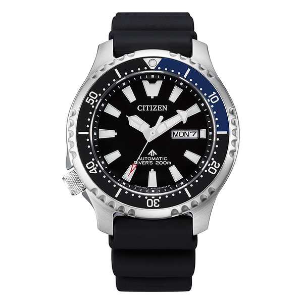 CITIZEN PROMASTER 鋼鐵河豚系列 深海潛航限量機械腕錶-黑X藍框
