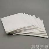 意大利高檔男士純白亞麻西服方巾 白色手工卷邊西裝口袋巾 手帕巾 至簡元素