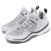 Nike 休閒鞋 Jordan DNA LX GS 灰 白 喬丹 Flyknit 編織鞋面 運動鞋 女鞋 大童鞋【PUMP306】 AO2650-002