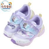 《布布童鞋》Moonstar日本冰雪奇緣彩紫蝴蝶結電燈機能運動鞋(15~19公分) [ I1V831F ]
