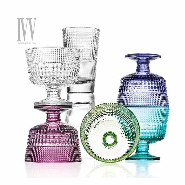 義大利IVV SPEEDY系列-280ML手工彩色玻璃威士忌杯六入組