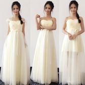綁帶款 韓版系列姐妹團伴娘服長款禮服晚禮服結婚