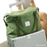旅行收納袋 旅行手提包便攜拉桿行李箱衣物收納袋單肩包收納包旅游 XY7637【KIKIKOKO】