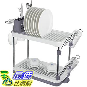 [美國直購] Surpahs WLDR-004-2T 雙層碗盤架 瀝水架 收納架 2-Tier Compact Dish Drying Rack _U32