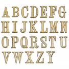 沙蒙DIY 圓弧燙金英文貼牌8cm A-Z 金字貼牌/黏牌/標示牌