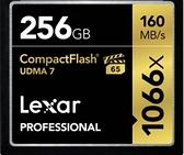 【聖影數位】Lexar 雷克沙 Professional 256Gb 1066X 160MB/s CF 高速記憶卡 公司貨
