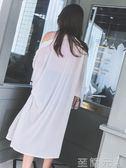 防曬衫女夏寬鬆燈籠長袖小清新雪紡開衫超仙防曬衣   至簡元素