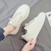 2020爆款新款小白潮鞋女夏季百搭學生帆布休閒運動白鞋板鞋ins潮 韓國時尚週