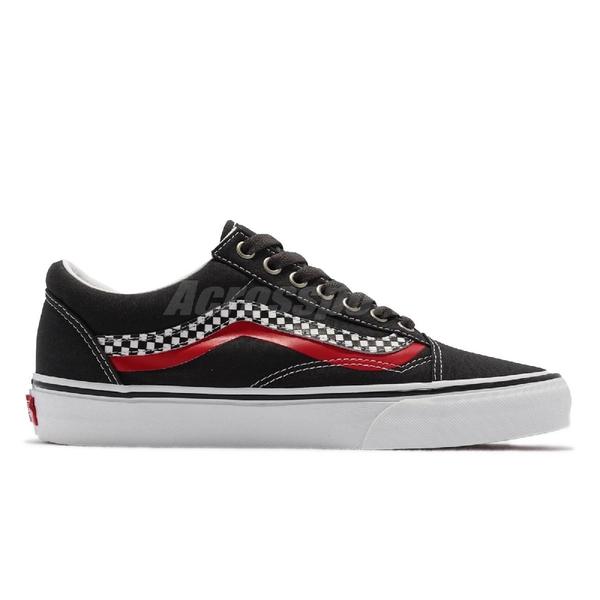 Vans Old Skool 黑 黃 紅 棋盤格 波紋 男鞋 內外側不對稱 基本款 【ACS】 VN0A3WKT4S2