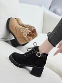 馬丁靴馬丁靴女鞋英倫風半靴子2021新款百搭高跟短靴粗跟春秋款單靴冬季 雙11 伊蘿