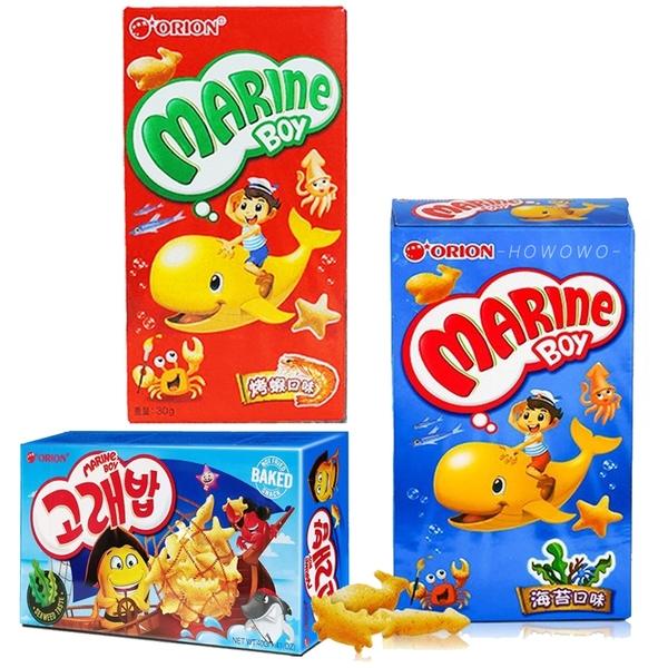 韓國 好麗友 orion 好多魚餅乾 海苔 烤蝦 海洋動物餅乾 40g 動物造型餅乾 5901