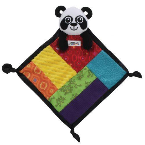 Lamaze拉梅茲嬰幼兒玩具 PANDA小手帕 LC27085