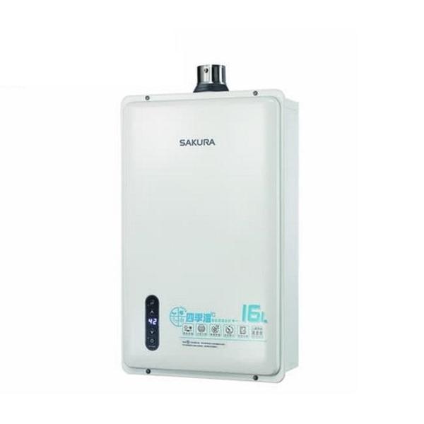 【南紡購物中心】櫻花【DH-1635EL】16公升強制排氣熱水器桶裝瓦斯