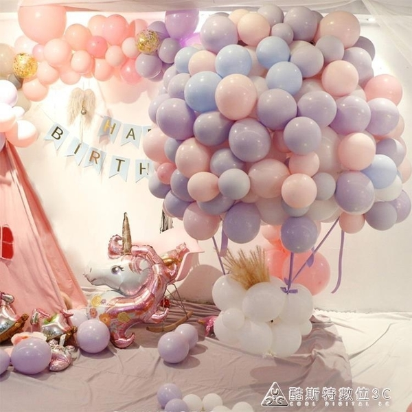 派對氣球ins馬卡龍氣球糖果色創意生日派對佈置拱門氣球裝飾結婚禮用品 交換禮物 YXS