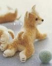 地毯趴姿小柴犬美麗諾羊毛羊毛氈材料包、可製作成手機吊飾、小裝飾(純羊毛製品)