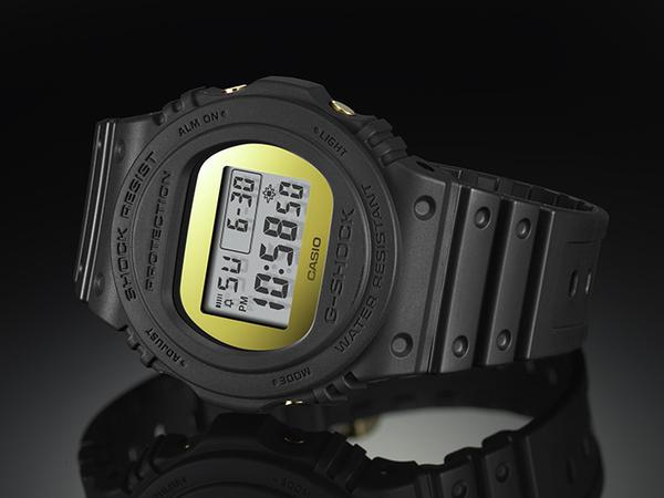 G-SHOCK DW-5700BBMB-1 復刻經典強悍電子運動錶 金屬鏡面 霧面黑x金 DW-5700BBMB-1DR CASIO卡西歐