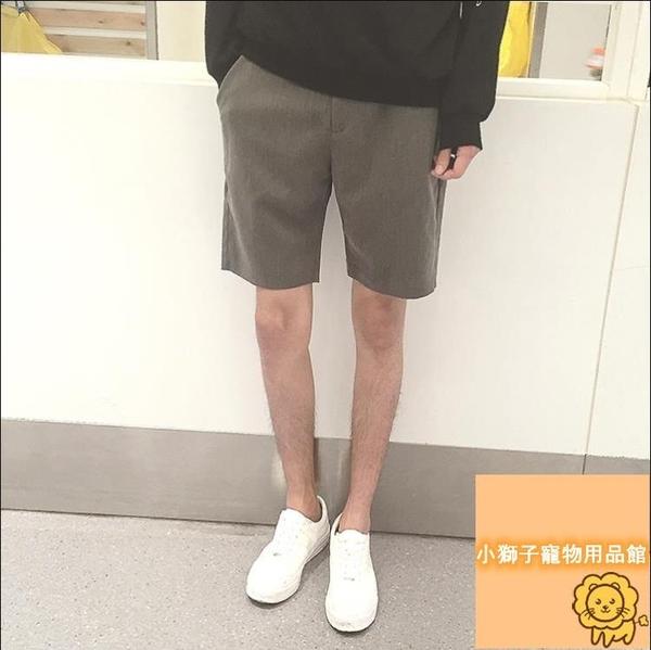 寬松休閑短褲西裝日系五分褲男夏季男大碼【小狮子】